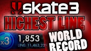 Skate 3: Highest Line Score - NEW World Record (11,465,094)