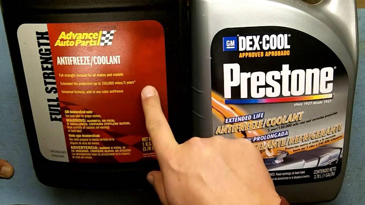 Can I mix antifreeze 62