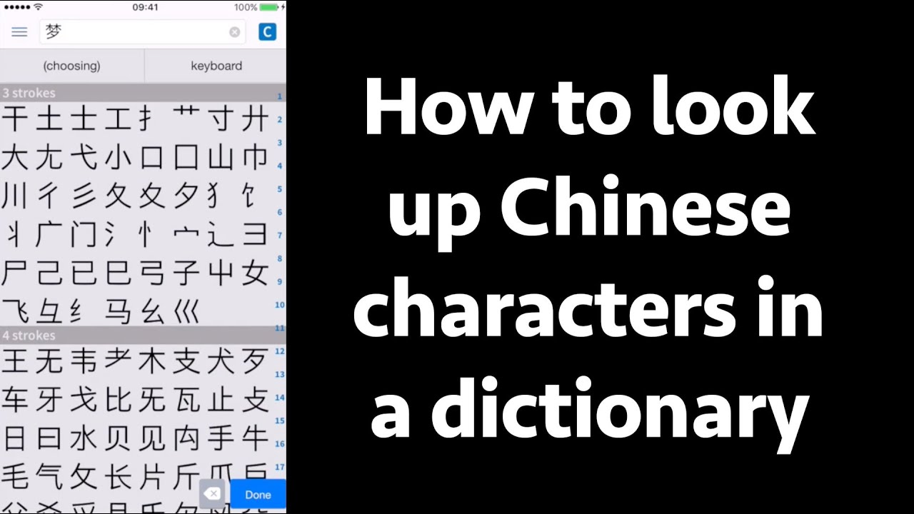 How To Look Up Chinese Characters In A Dictionary Several Ways