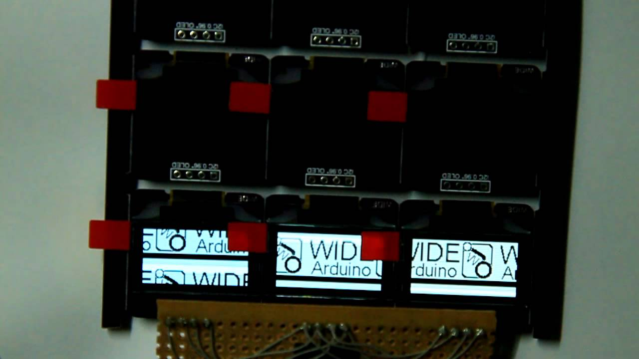 I2C 0 96` OLED display - Arduino Demo