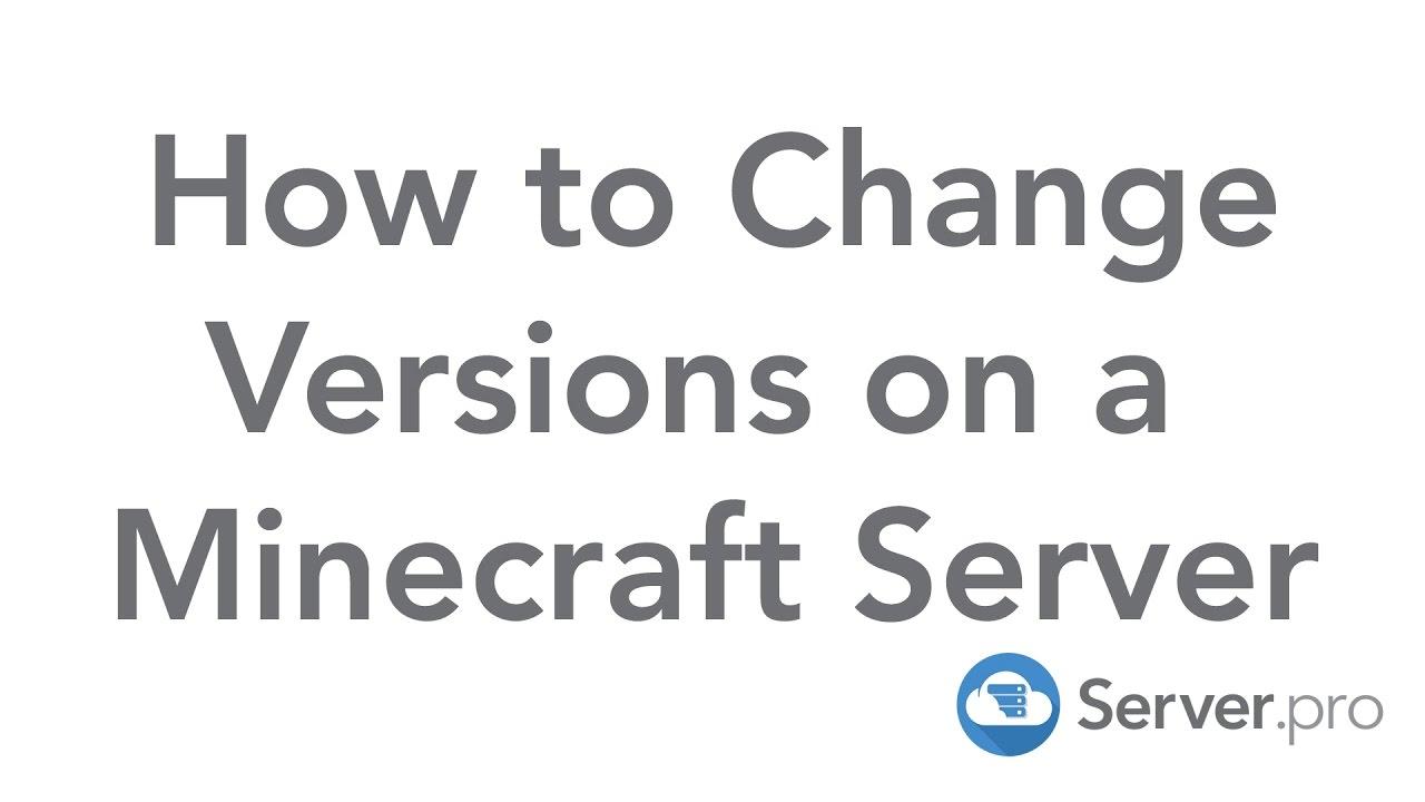 minecraft how to change game version