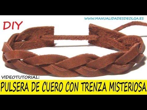 66dc432dda47 COMO HACER UNA PULSERA CON TRENZA MISTERIOSA DE CUERO PARA HOMBRE ...