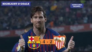 Download Video Barcelona vs Sevilla 4 - 2 Highlight and Goals MP3 3GP MP4