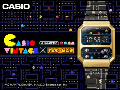 CASIO VINTAGE ×PAC-MAN Collaboration model talking Movie!