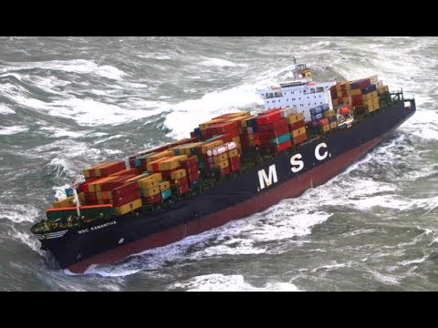 Top 10 Biggest Container Ships In Storm! Strong Waves at Sea