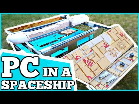 DIY Custom SPACE SHIP Water Cooled Gaming PC Build - Progress 2