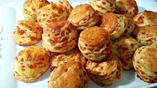 Hungarian Cheese Biscuits (Sajtos Pogacsa) by Helen M. Radics