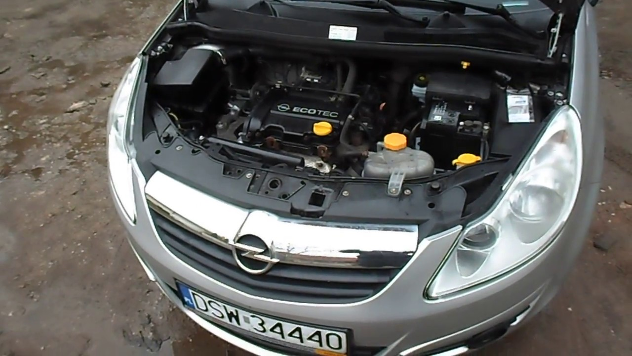 engine opel corsa d 1 0 12v 2008r youtube. Black Bedroom Furniture Sets. Home Design Ideas