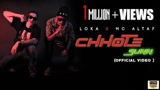 CHHOTE SUNN   OFFICIAL MUSIC VIDEO   LOKA X MC ALTAF   CRAZYVIBE   DROPOUT thumbnail
