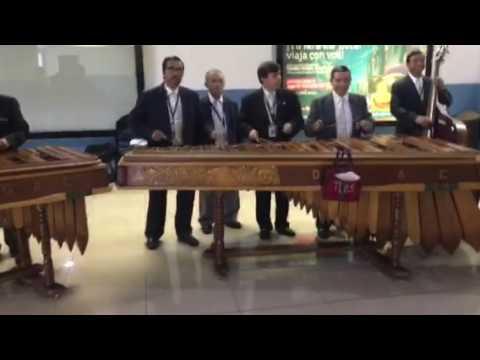 Marimbas at the Guatemala airport
