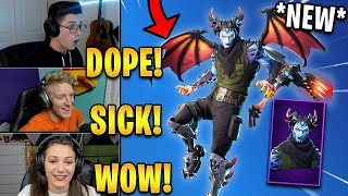 "Streamers React to *NEW* ""Malcore"" Skin & ""Evil Eye"" Axe! 