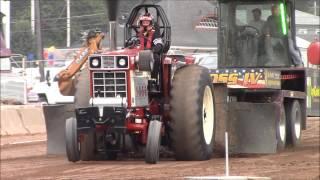 USA-East Sled Pulling Hot Farm Tractors Columbiana County Fair 8-8-15