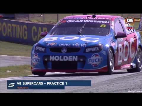 V8 Supercars 2015 Perth Practice 1 Highlights