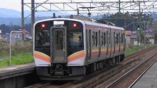 【E129系】信越本線 北条駅から普通列車発車