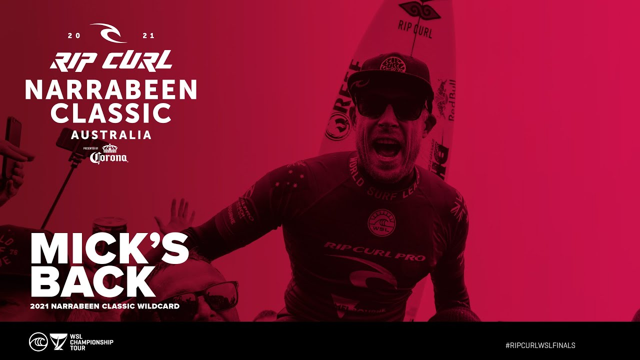 Mick Fanning Is Back! 2021 WSL Rip Curl Narrabeen Classic Wildcard - YouTube