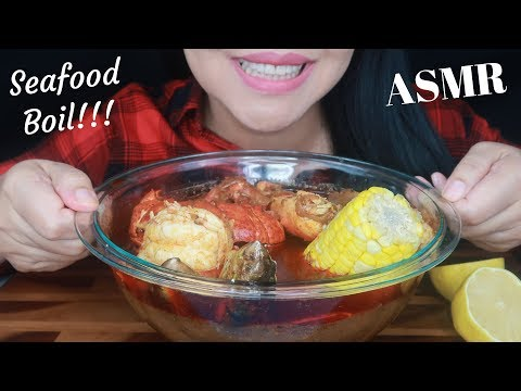 Seafood Boil Soaked In Bloves Sauce ~ For SassEsnacks ~ ASMR