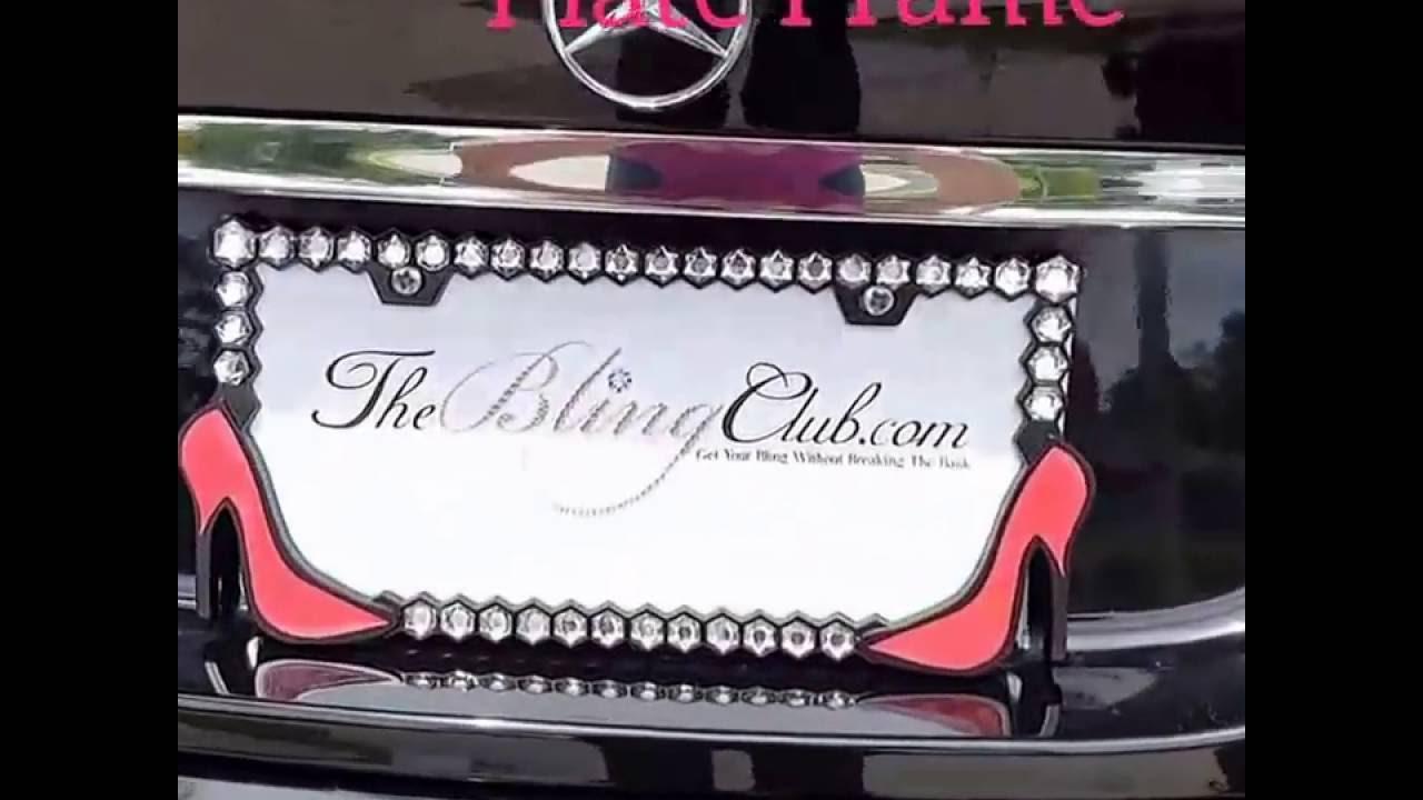 Bling Red High Heels Stiletto License Plate Frame - YouTube