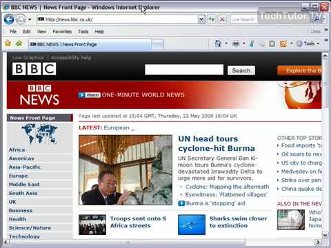 Refresh A Page In Internet Explorer 7
