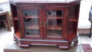 Reproduction Furniture, Large Corner Entertainment Cabinet