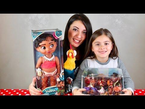 Dal film Oceania la bambola Vaiana, il gallo Hey hey e il playset con tutti i personaggi Disney