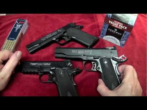 Shooting All Three Colt 1911 .22LR Pistols