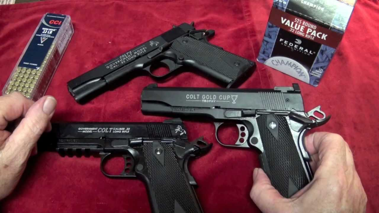Shooting All Three Colt 1911 .22LR Pistols - YouTube