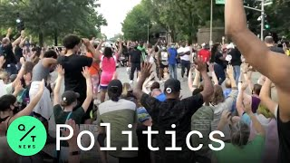 St. Louis Residents March By Home Of Who Pointed Guns At Protesters