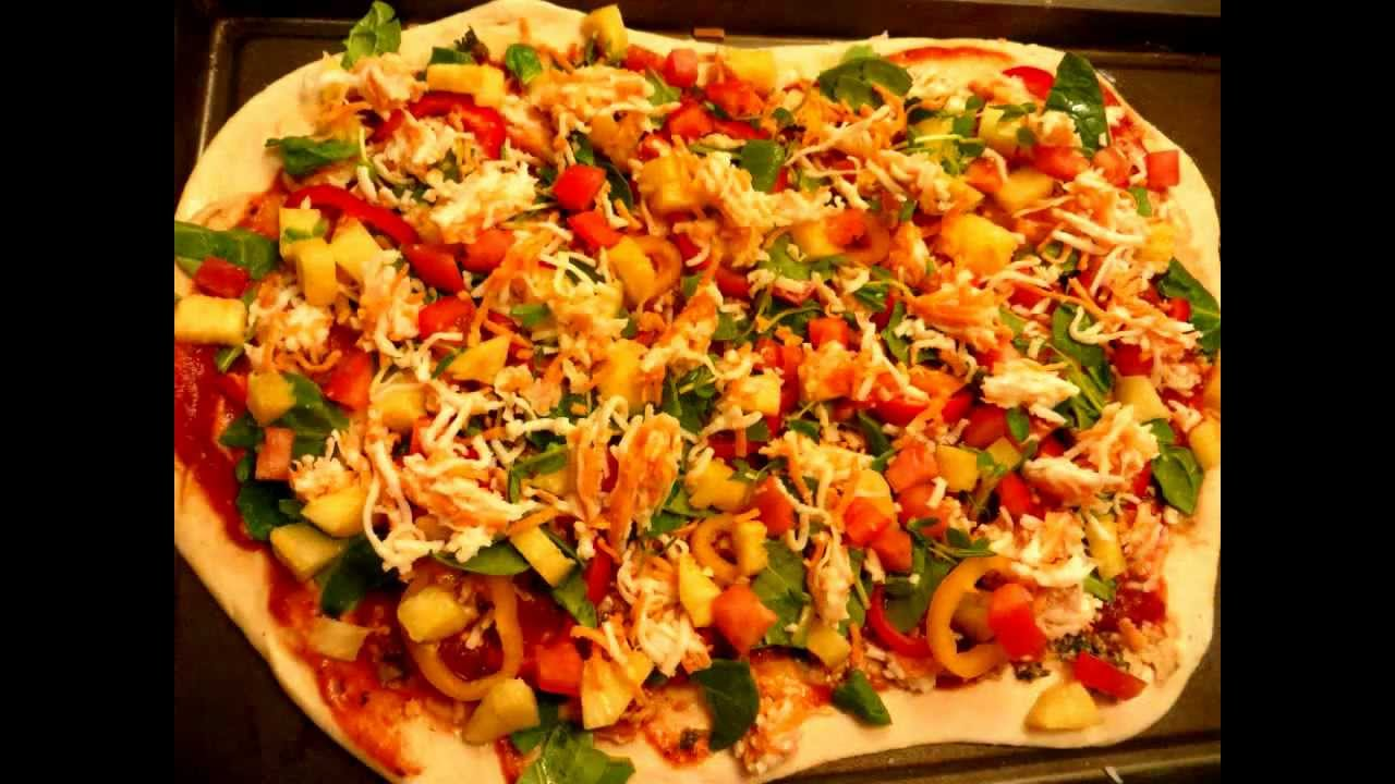 Pizza con vegetales veggie pizza youtube for Pizza de verduras