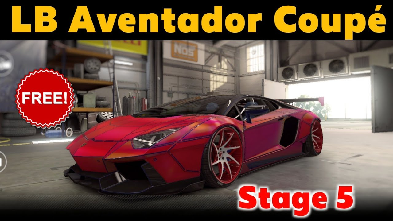 CSR2 LB Aventador Coupe | Tune & Shift for 8.98x Sec | Stage 5 Setup | FREE CAR | CSR RACING 2