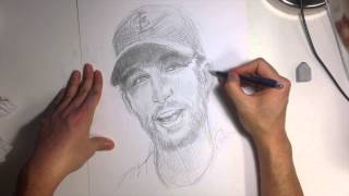 Drawing baseball player: Adam Wainwright
