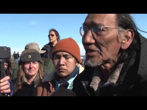 Nate Phillips of Omaha Tribe at Oceti Sakowin camp