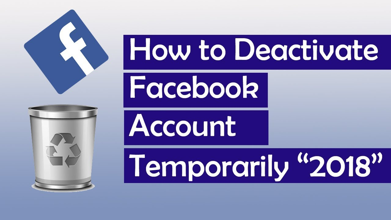 how to delete facebook account temporarily