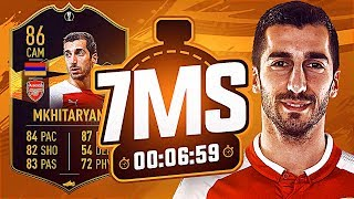 SBC 86 MKHITARYAN 7 MINUTE SQUAD BUILDER!!! - FIFA 19 ULTIMATE TEAM