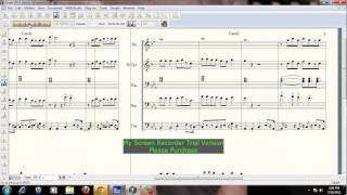 Candy By Cameo Arranged by Kymarte Jackson for Marching or Brass Band Sheet Music.wmv