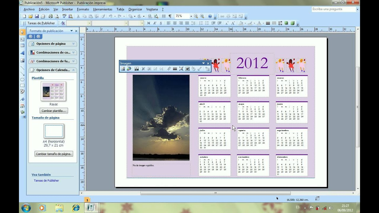 Tutorial c mo hacer un calendario youtube - Ideas para hacer un calendario ...
