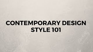 Contemporary Design Style