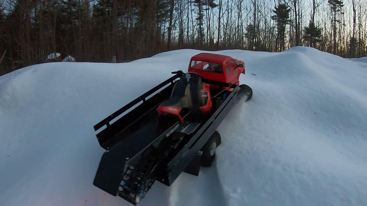 Long track RMK rc snowmobile polaris brushless jumping ...