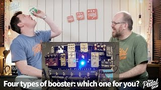 that pedal show four types of booster which one for you