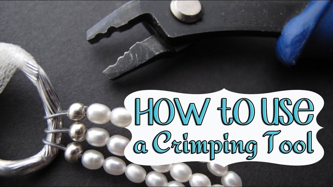 how to use a crimping tool to finish beaded jewelry youtube. Black Bedroom Furniture Sets. Home Design Ideas