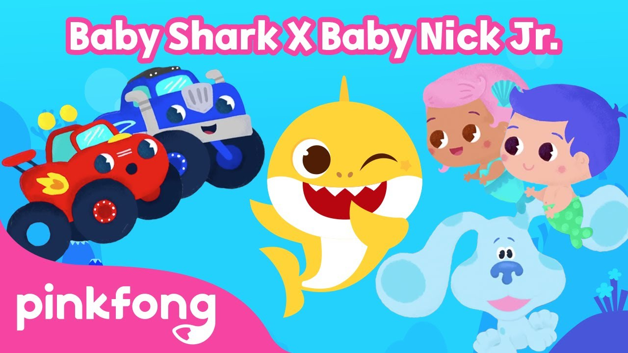 Baby Nick Jr. | Sing with Baby Shark, Blaze, Gil and Blue | Nick Jr. Crew x Baby Shark