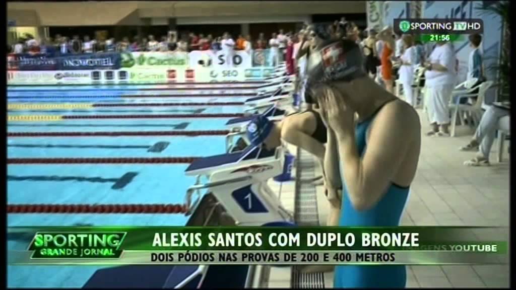Natação :: Alexis Santos (Sporting) venceu 2 medalhas de bronze no Euromeet no Luxemburgo 01/02/2015