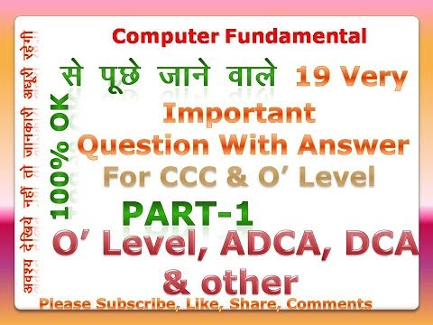 Computer Fundamental Question With Answer Part 1