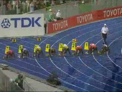 The fastest man in the world Usain Bolt WR 9.58 100m sprint