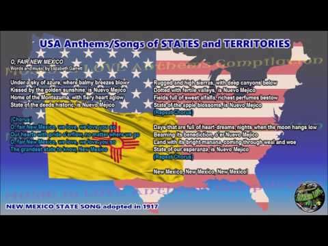 New Mexico State Song O, FAIR NEW MEXICO With Music, Vocal And Lyrics