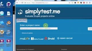 Drupal 8 -  Mencoba install drupal 8 di Simplytest.me - Part 1