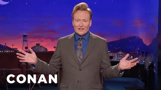 Conan Tells Jokes About Pointless News Stories  - CONAN on TBS