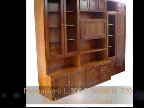 Produzione realizzazione librerie pareti attrezzate mobili - Mobili pareti attrezzate classiche ...
