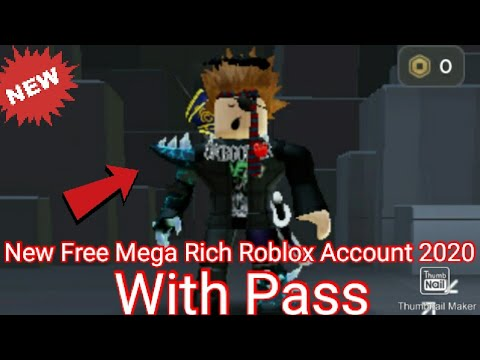 New Free Mega Rich Roblox Account 2020 Youtube