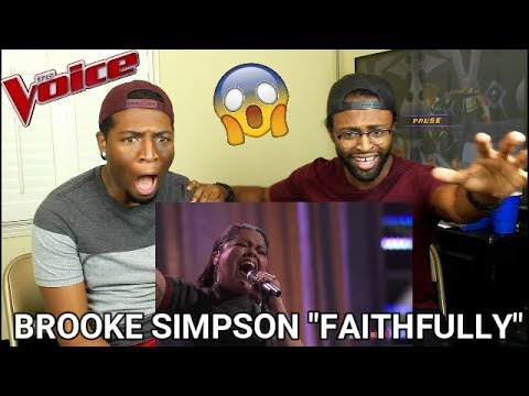 "The Voice 2017 Brooke Simpson  Semifinals: ""Faithfully"" WE CRIED!!"
