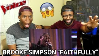 "The Voice 2017 Brooke Simpson - Semifinals: ""Faithfully"" (WE CRIED!!)"